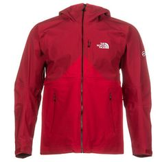 The North Face Fuse Uno Mens Shell Ski Jacket, Salsa Red-TNF Black