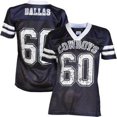 Dallas Cowboys Womens Team Spirit Jersey - Navy Blue