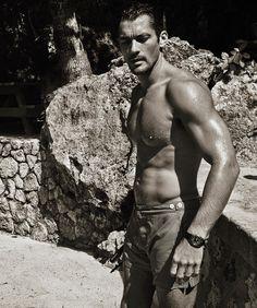 HQ Outtake - David Gandy in Jamaica 'Gandy For Autograph' Swimwear Photographer: Mariano Vivanco