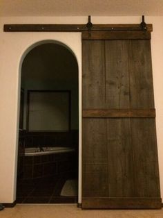 his u0026 her reclaimed fir barn door