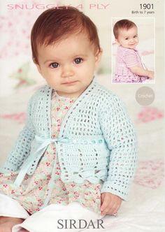 Sirdar--Cardigans (Crochet; birth to 7 years)