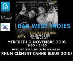 Hôtel La Batelière - Bar West Indies - Christophe Sichanh et Thierry Malikian en Martinique pour la sortie exclusive du nouveau Canne Bleue 2016 des Rhums Clément !