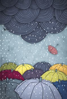 Rain Illustration - Fruzsi Boutros