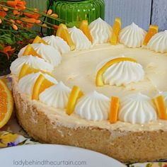 Nothing screams summer more then a good old fashioned Orange Icebox Pie. This classic pie starts with a homemade graham cracker crust and is filled with cr Cinnamon Roll Bread Pudding, Cinnamon Rolls, Caramel Banana Cake, Brown Sugar Pound Cake, Churro Cupcakes, Pineapple Cupcakes, Homemade Graham Cracker Crust, Icebox Pie, Summer Pie