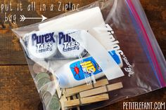 How to make a travel laundry kit - Petit Elefant
