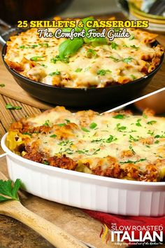 The Best Ever 25 Skillets and Casseroles - The Comfort Food Guide includes 30 minute meals, dips, casseroles, skillets and so much more there is truly something for everyone. Popular Recipes, New Recipes, Cooking Recipes, Favorite Recipes, Pork Recipes, Cooking 101, Special Recipes, Amazing Recipes, Recipes Dinner