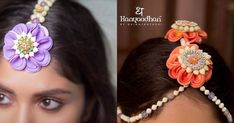 We Just Found The Newest Type of Floral Jewellery & Its Gorge! Bridal Accessories, Wedding Jewelry, Fashion Accessories, Fashion Jewelry, Silk Thread Necklace, Desi Wedding Dresses, Indian Bridal, Celebrity Weddings, Bridal Style