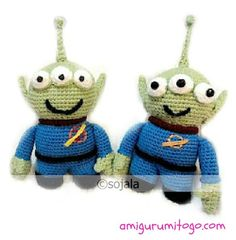 Alien LGM Inspired by Toy Story free crochet pattern by Amigurumi To Go