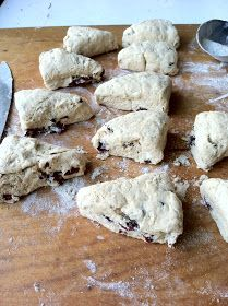 Cranberry sourdough scones