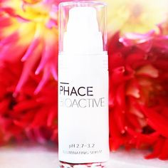 Our HERO product - PHACE BIOACTIVE Illuminating Serum. Get The PHACE Glow. Super potent serum for lightening brown/age/acne spots, stimulating collagen and elastin, and brightening. Has 15% Vitamin C (at a very low pH, so strong stuff), 2% Plant Stem Cells, and 1% Gallic Acid from grapes. Also has pigment lightening botanicals like Licorice Root, Mulberry, EGCG - the powerhouse polyphenol in Green Tea, with Vitamins B5 + E, and a small amount of Hyaluronic Acid. This product delivers results…
