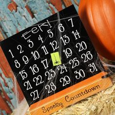 Magnetic Halloween Countdown |  Thoughts in Vinyl ONLY $12.   Great for Super Saturday Crafts