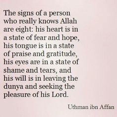 Person who knows Allah