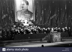 MOSCOW, USSR. Joseph Stalin talks at The Bolshoi Theater pre-election meeting, 1946.