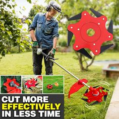 garten videos This 6 Blade trimmer allow you do your work more quickly with less time.