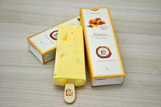 Picolé Pêssego ao Creme Packaging Ice Cream Design Packaging Design Popsicle Peach'n Cream