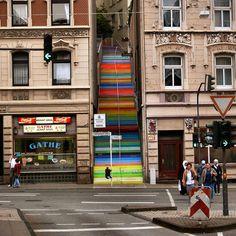6. Wuppertal, Alemania - 17 bellamente pintado Escaleras de todo el mundo.  # 7 es una locura!