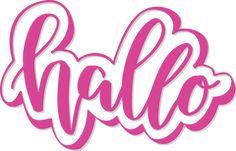 hallo - Hand Lettering Bunte Galerie
