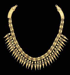 A GREEK GOLD STRAP NECKLACE   Circa 330-300 B.C.