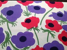 Maija Isola for Marimekko 1973. Vintage retro fabric from Finland in great condition.. kr130.00, via Etsy.