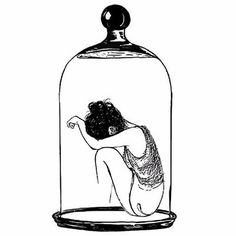 Esther's description of being trapped in a bell jar as a metaphor of being stuck in depression. Glass Bell Jar, The Bell Jar, Painting Inspiration, Art Inspo, Shakespeare Tattoo, Sad Paintings, Mermaid Drawings, Drawing Wallpaper, Jar Art