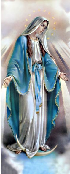 """Our Lady of Lourdes """"I am the Immaculate Conception. Jesus And Mary Pictures, Mother Mary Images, Images Of Mary, Mary And Jesus, Virgin Mary Painting, Virgin Mary Art, Blessed Virgin Mary Images, Jesus Mother, Blessed Mother Mary"""