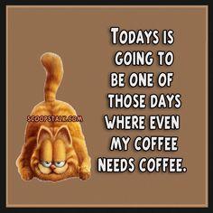 Need Coffee Please . Coffee Talk, I Love Coffee, Coffee Break, Coffee Coffee, Garfield Quotes, Garfield And Odie, Garfield Cartoon, Coffee Carts, Coffee Drinks