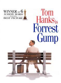 Forrest Gump (Robert Zemeckis - 1994) - Né fin des années 40 dans une bourgade du Sud, Forrest Gump est affecté d'un quotient intellectuel inférieur à la moyenne. Il livre à qui veut l'entendre l'étrange récit de sa vie, lui qui aura tout vu et tout fait sans comprendre ce qui lui arrivait, traversant et bouleversant en parfait candide près d'un demi-siècle d'histoire américaine. #movie #cinema