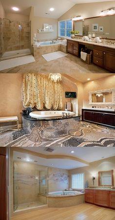 Master Bathroom Interior Designs - Simple and Luxurious - http://interiordesign4.com/master-bathroom-interior-designs-simple-and-luxurious/