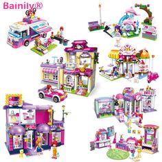 [Bainily] Shirley Princesa Casa de Cidade Dos Amigos da Série Modelo de Blocos de Construção De Brinquedo de Presente da menina Compatível Com LegoINGlys amigos