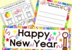 A FAB selection of teaching resources for the New Year Color Activities, Teaching Activities, Craft Activities, Teaching Resources, Teaching Ideas, New Years Hat, Display Banners, Colourful Balloons, New Year Celebration