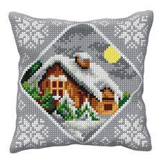 Wyjątkowa ozdoba Twojego domu! Własnoręcznie wyszyte poduszki. Zestaw do samodzielnego haftu poduszek. Rozmiar wykończonej poduszki 40 x 40 cm.  W skład zestawu wchodzą:  - drukowana kanwa gobelinowa (gęstość 18 oczek na 10 cm),  - komplet dobranej k