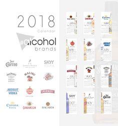 #alcohol brands calendar 2018 cover