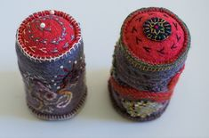 Hand Embroidery Stitches, Hand Stitching, Vintage Jewelry Crafts, Textile Artists, Pin Cushions, Repurposed, Jumper, Ann, Fiber