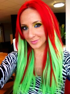 Green Hair Coloring Products | in your face neon hair dye powder category salon quality hair dye s ...