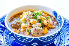This white bean soup with meatballs is a classic rustic soup often served in Tuscany. The blend of Italian spices such as paprika, marjoram, rosemary, thyme, and bay leaf deliciouslyflavour this hearty soup. In addition, the amazing soup broth is soaked up by the tender gluten free meatballs, making this soup unforgettable. Serve as a …