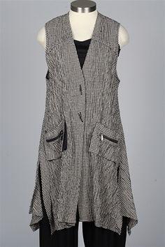 09c0d2769c Y Fashion Designers - Checked Long Vest - Black   Khaki - New Items at  Fawbush s