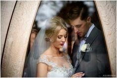 bride and groom intimate moment / #Enzoani Harlem wedding dress / Alex Bradbury Photography