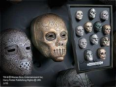 DEATH EATER Mask Collection - I will one day have the entire collection on my wall!