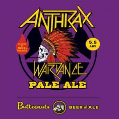 Bilderesultat for anthrax war dance pale ale