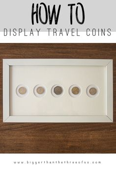Do you have coins from your travels just laying around? Use this modern idea to display travel coins as art!