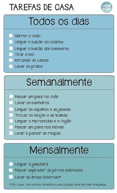 Homework checklist - Home Cleaning