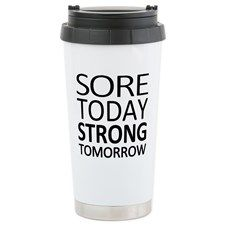 Strong Tomorrow Stainless Steel Travel Mug for