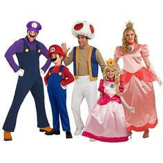 Family-friendly group costume #costumes #mario