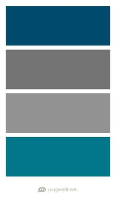 Custom Blue, Charcoal, Classic Gray, and Peacock Wedding Color Palette - custom color palette created at MagnetStreet.com