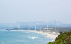 風力発電 Wind Farm Along the Coast, Shimane, Japan