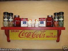 Coca-cola Wooden Wall Display Shelf - Crafted From Original Soda Cases Coca Cola Cake, Coca Cola Decor, Coke Crate Ideas, Coca Cola Kitchen, Always Coca Cola, Coca Cola Bottles, Display Shelves, Shelving, Wooden Walls