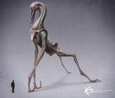Concept aliens by Ken Barthelmey
