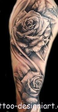 rose tattoo idea image photo picture tattoos art design styles http://www.tattoo-designiart.com/rose-tattoos-designs/rose-tattoo-design-picture-7/
