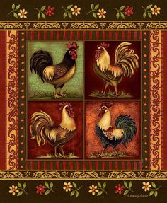 Rooster Rug...I need this to go under the table if I ever get new flooring