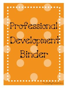 Professional Development Binder Covers - FREE!